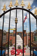 Grossbritannien  Belfast - Grabstaette von Opfern der IRA am Dr Pitt Memorial Park  Titanic Quarter  East Belfast