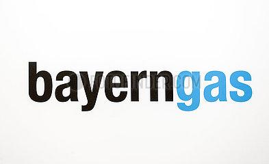 bayerngas  Logo am Messestand auf der Messe E-world energy & water  Essen  Nordrhein-Westfalen  Deutschland  Europa