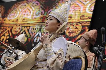 KAZAKHSTAN-NUR-SULTAN-FOLK MUSIC ENSEMBLE-RECORD