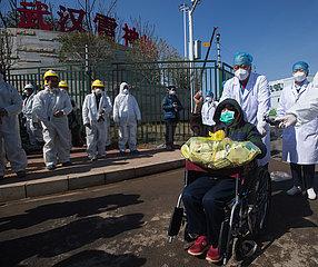 CHINA-HUBEI-WUHAN-LEISHENSHAN HOSPITAL-CURED PATIENTS (CN)
