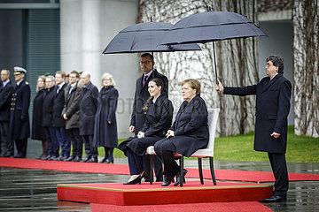 Merkel empfaengt Sanna Marin