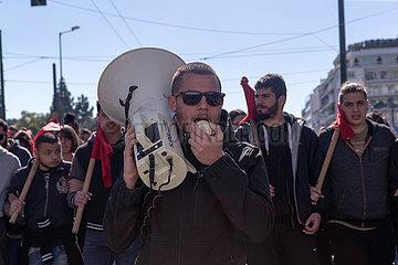 GREECE-ATHENS-STRIKE-SOCIAL SECURITY REFORMS