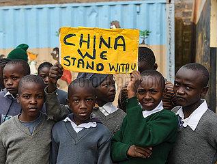 KENYA-NAIROBI-CHILDREN-NOVEL CORONAVIRUS-SUPPORT