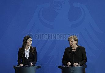 Bundeskanzleramt - Trefen Merkel Marin