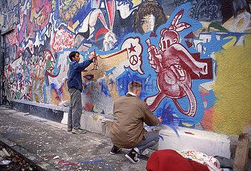 Muenchener Graffiti-Szene  Dachauer Strasse  1987