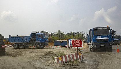 Strassenbau in Nigeria