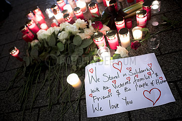 Vigil For Hanau Shooting Victims