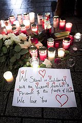 Vigil For Hanau Shooting Victims