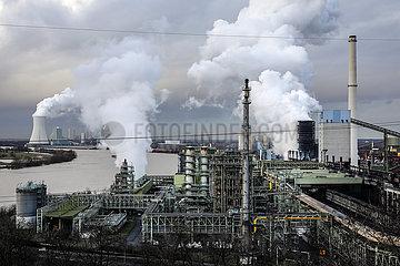 ThyssenKrupp Steel Europe  KBS Kokerei Schwelgern am Rhein in Duisburg-Marxloh  Ruhrgebiet  Nordrhein-Westfalen  Deutschland