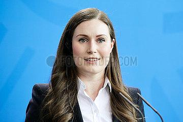 Berlin  Deutschland - Sanna Marin  Ministerpraesidentin der Republik Finnland.