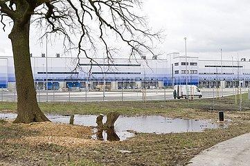 Neubau eines Amazon Logistcenters