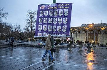 IRAN-TEHERAN-PARLAMENTSWAHLEN-Wahlplakate