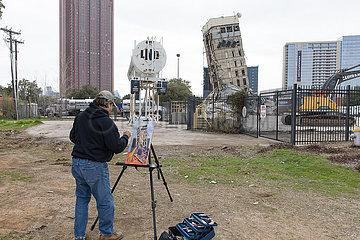 US--DALLAS-Schiefen Turm von DALLAS