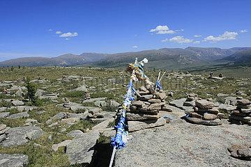 Ovooo im Otgon Tenger uul in der Mongolei