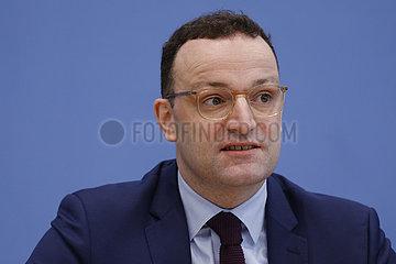 Armin Laschet  Jens Spahn - Bundespressekonferenz zum Thema: Zur Kandidatur fuer den CDU-Vorsitz