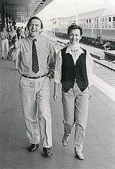 Gerhard und Hillu Schroeder  Hannover  Mai 1986