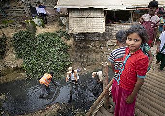 Fluechtlingslager Kutupalong in Bangladesch