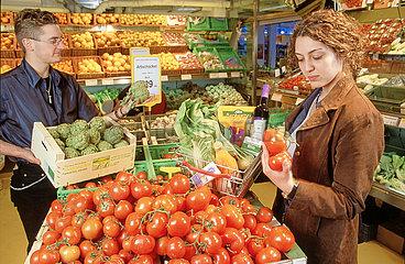 erster Muenchener Bio-Supermarkt von Basic  2001