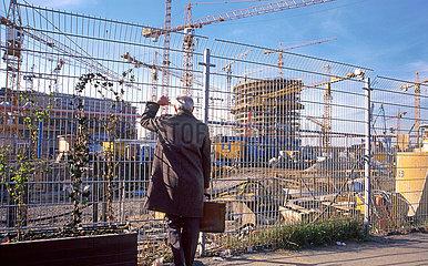 Baustelle Potsdamer Platz  Berlin  Maerz 1998
