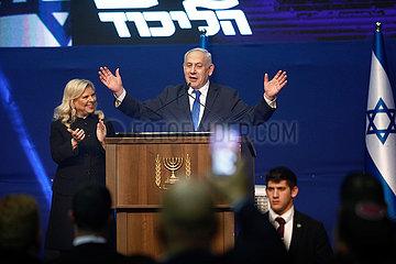 ISRAEL-TEL AVIV-WAHL-Netanjahu