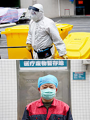 CHINA-HUBEI-Xiaogan-Sanitation Arbeiter IN HOSPITAL (CN)