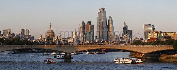 Panorama Skyline London  England