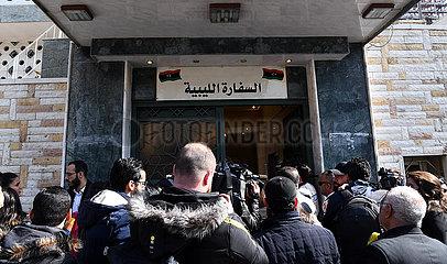 SYRIEN-DAMASKUS-LIBYEN-HAFTAR REGIERUNG-EMBASSY