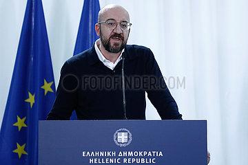 GRIECHENLAND-Kastanies-EU-FÜHRER-UNITY-WANDERFLUSS