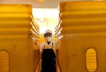 CHINA-HENAN-ZHENGZHOU-NOVEL CORONAVIRUS-Entsorgung von medizinischem Abfall (CN)