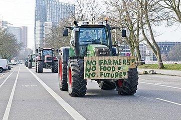 Landwirte demonstrieren gegen die geplante Düngeverordnung