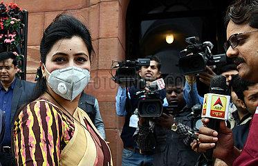 INDIEN-NEW DELHI-PARLAMENT SESSION-COVID-19