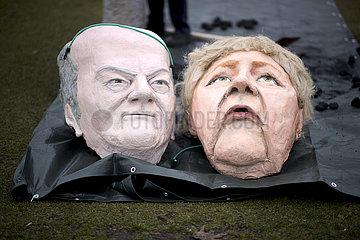 Kohlegesetz im Bundestag - Protest