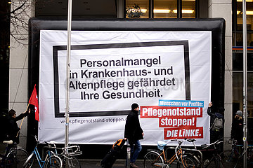 Linke - Protest Pflegenotstand