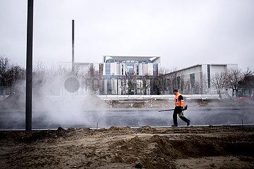 Baustelle am Bundeskanzleramt