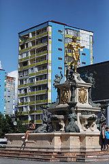 Batumi  Georgien  der Neptunbrunnen