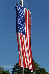Redefin  Deutschland  Nationalfahne der Vereinigten Staaten von Amerika