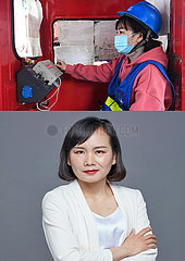 (Porträts) CHINA-BEKÄMPFUNG CORONAVIRUS-FEMALES
