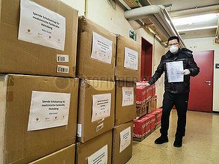 DEUTSCHLAND-HEINSBERG-Overseas Chinese-COVID-19-MEDIZINISCHE VERSORGUNG-SPENDEN