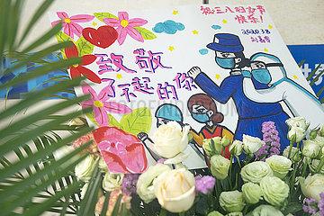CHINA-HUBEI-WUHAN-behelfsmäßige HOSPITAL-Frauentag (CN)