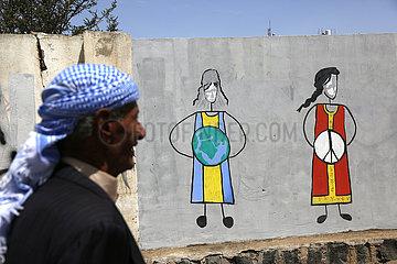 JEMEN-SANAA-WOMEN'S DAY-ZEICHNUNG