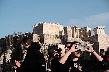 GREECE-ATHENS-FILOPAPPOU HILL-VIEW GREECE-ATHENS-FILOPAPPOU HILL-VIEW