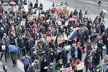 Frauentag: Demonstration in Hamburg