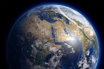 CGI Visualisierung: Erde
