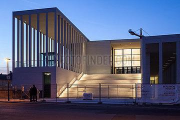 Neubau der James-Simon-Galerie auf der Museumsinsel in Berlin-Mitte