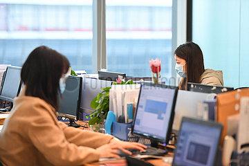 CHINA-HUNAN-CHANGSHA-Geschätfsgabäude-Rückkehr zur Arbeit (CN)