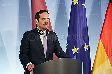 Berlin  Deutschland - Der Aussenminister Katars Scheich Al Thani.