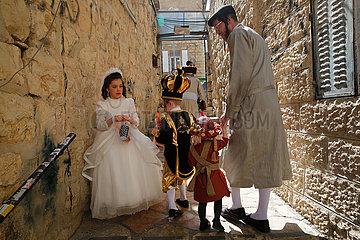 MIDEAST-JERUSALEM-PURIM CELEBRATION