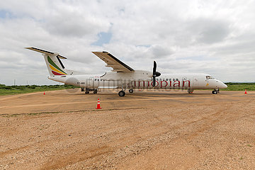 Gode  Somali Region  Aethiopien - Flughafen Gode  DHC-8-400