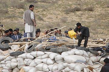 AFGHANISTAN-Jawzjan-sichergestellte Drogen