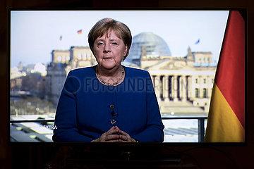 Angela Merkel - Fernsehansprache Coronavirus